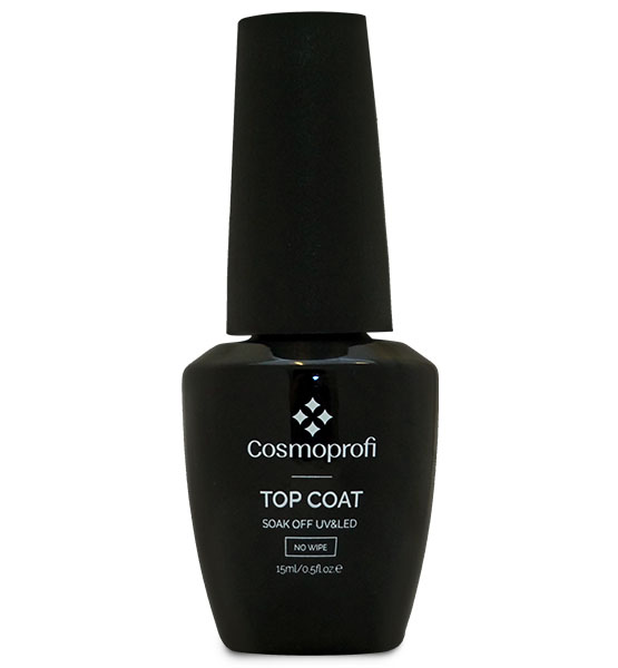 Top Coat Gel without a sticky layer, 15 ml