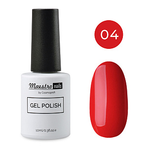 Maestro nails gel polish, №4 - 10 ml